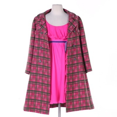 Gidding-Jenny Double-Breasted Coat and Modern Couture Babydoll Dress
