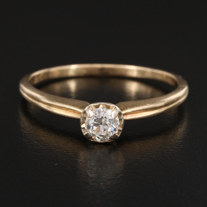 14K 0.25 CT Diamond Solitaire Ring