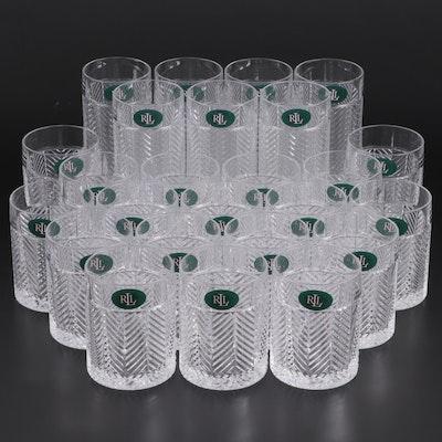"Ralph Lauren ""Herringbone"" Highball and Old Fashioned Glasses"