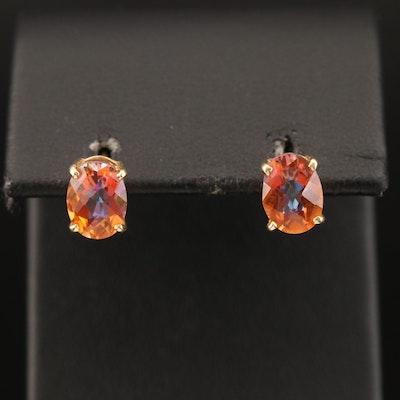 14K Mystic Topaz Earrings
