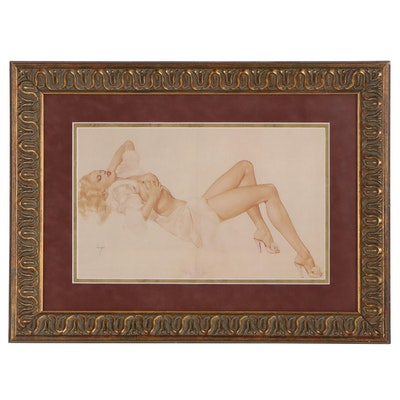 Offset Lithograph of Pin-Up Girl after Alberto Vargas, 21st Century