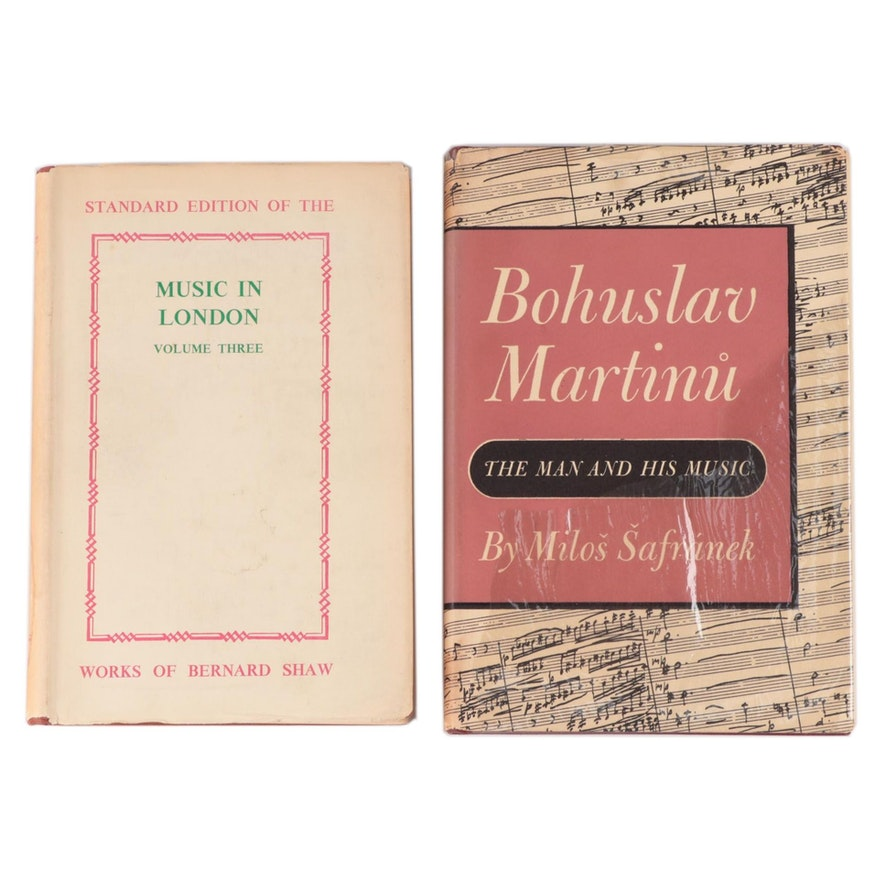 "Signed First Edition ""Bohuslav Martinů: The Man and His Music"" and More"