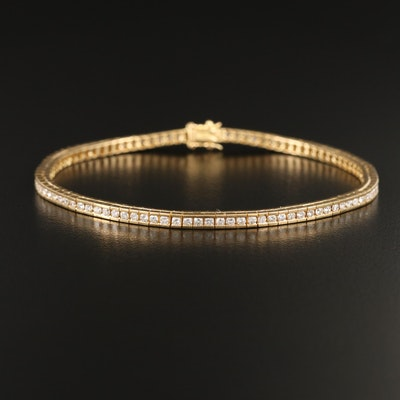 18K 1.92 CTW Channel Set Diamond Line Bracelet