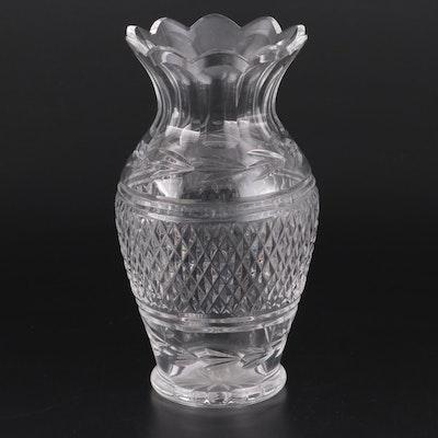 "Waterford Crystal ""Glandore"" Fluted Flower Vase, 1970s"