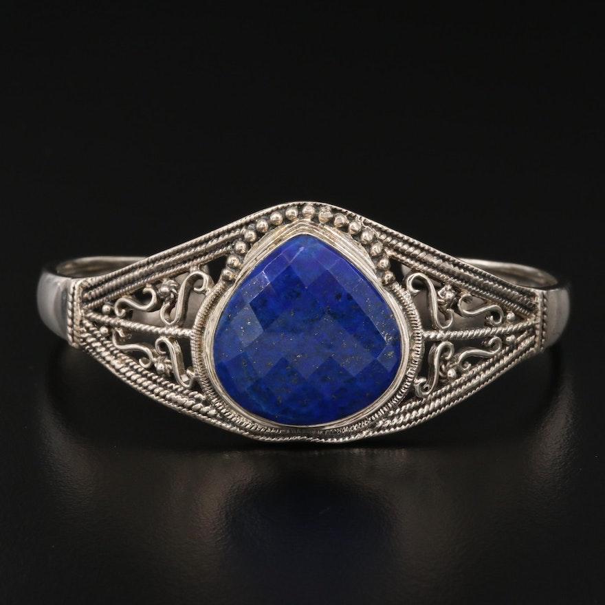 Nicky Butler Sterling Lapis Lazuli Openwork Cuff