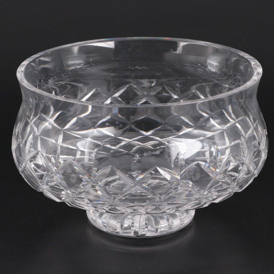 "Waterford Crystal ""Lismore"" Footed Centerpiece Bowl"