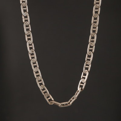 Sterling Mariner Chain Necklace