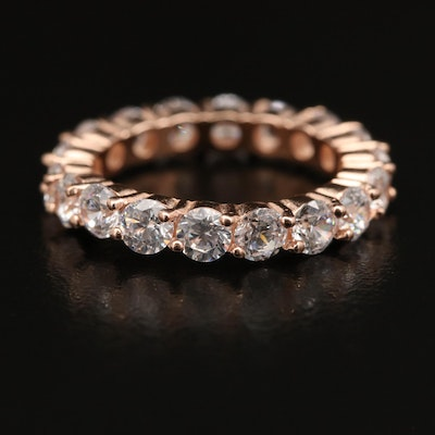 Sterling Cubic Zirconia Eternity Band
