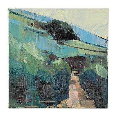 "Jose Trujillo Oil Painting ""Rolling California Hills,"" 2020"