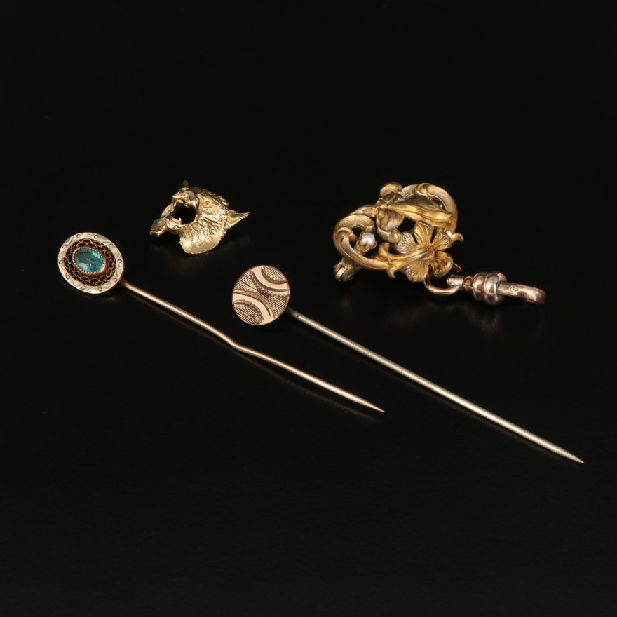 Antique and Vintage Jewelry Featuring Plainville Stock Co. and 10K Gold