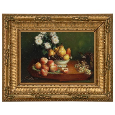 Still Life Oil Painting, late 20th/21st century
