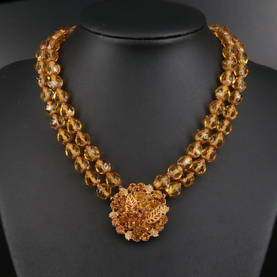 Circa 1950 Robert DeMario Beaded Necklace