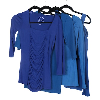 INC International Concepts and Soft Surroundings Blue Tops and Sweater