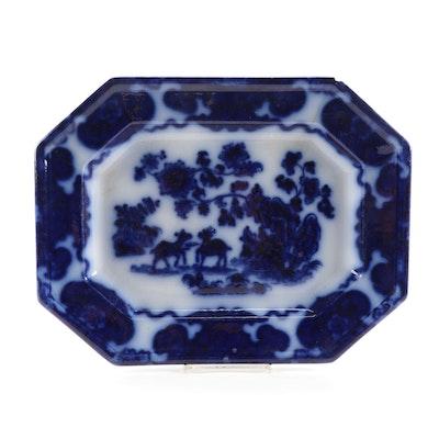 F. Morley & Co. Flow Blue Cashmere Platter
