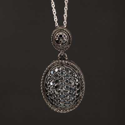Sterling Spinel Pendant Necklace