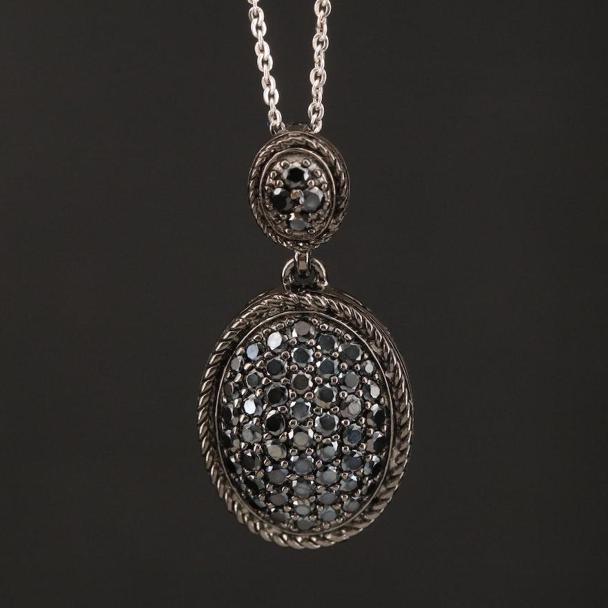 Sterling Spinel Pendant Necklace
