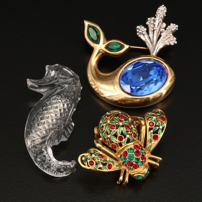 Waterford Crystal, Joan Rivers and Swarovski Brooches