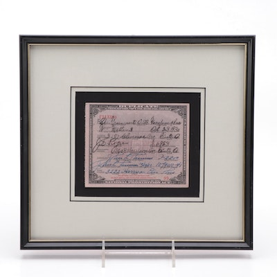 National Prohibition Act Framed Prescription for Medicinal Whiskey, 1930