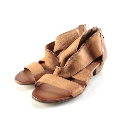 Miz Mooz Candace Tan Leather Sandals