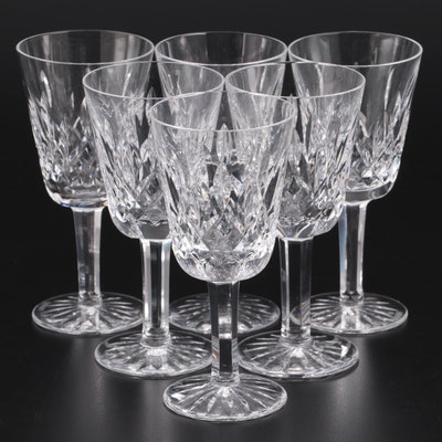 "Waterford Crystal ""Lismore"" White Wine Glasses"