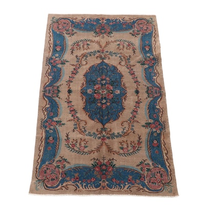 4'11 x 8'2 Hand-Knotted Persian French Style Wool Rug