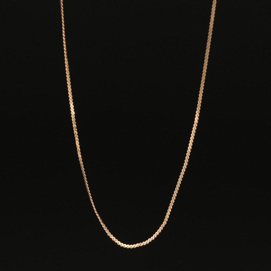 14K Serpentine Link Chain