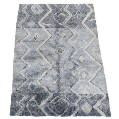 5'5 x 7'8 Hand-Knotted Moroccan Area Rug