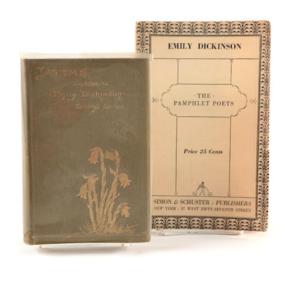 "Emily Dickinson Poetry Books Including ""Poems by Emily Dickinson"" Second Series"