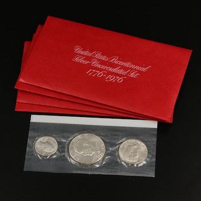 Four U.S. Mint 1976 Bicentennial Silver Uncirculated Sets