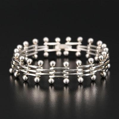 Sterling Silver Gate Link Bracelet