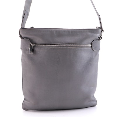 Louis Vuitton Sasha Messenger Bag in Glacier Grey Taiga Leather