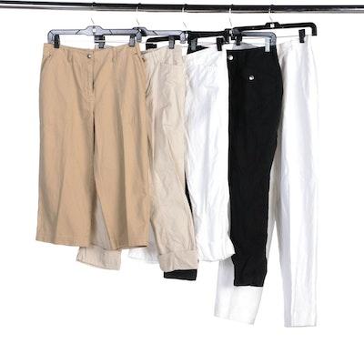Lauren Ralph Lauren Cropped or Capri Pants and Talbots Irish Linen Pants