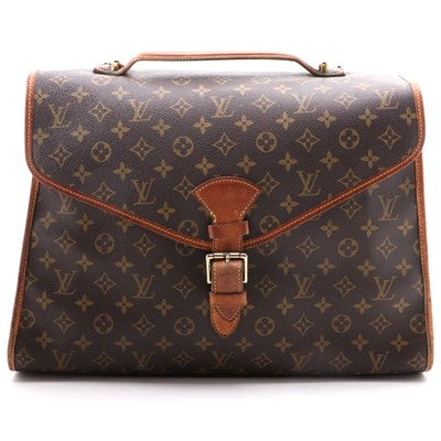 Louis Vuitton Beverly MM Briefcase in Monogram Canvas and Leather