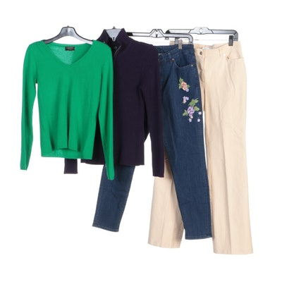 Escada, Ralph Lauren and Other Pants and Sweaters