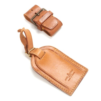 Louis Vuitton Luggage Tag and Poignet in Vachetta Leather