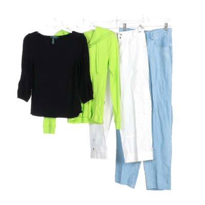 Lauren Ralph Lauren Jeans, Cargo Pants, Shirts and Waffle Knit Sweater