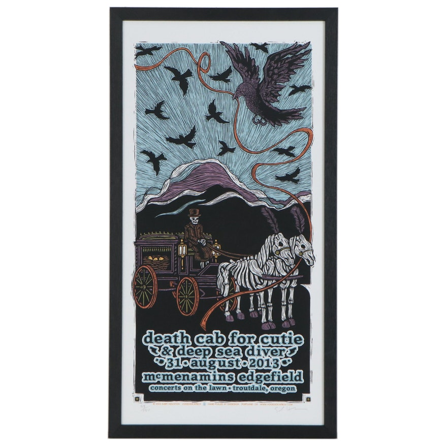 Gary Houston Serigraph Poster for Death Cab for Cutie & Deep Sea Diver, 2013