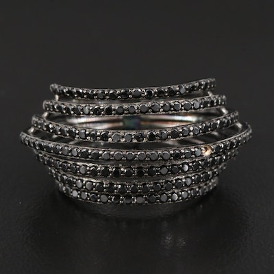 Sterling Cubic Zirconia Multi-Row Ring