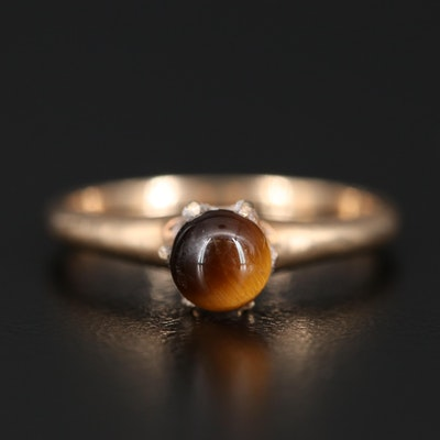14K Tiger's Eye Quartz Ring