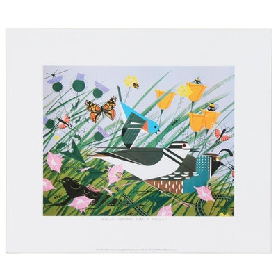 """Offset Lithograph after Charley Harper """"Once There Was a Field"""""""