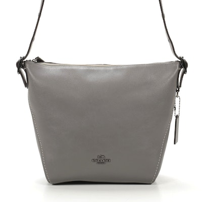 Coach Dufflette Grey Leather Shoulder Bag