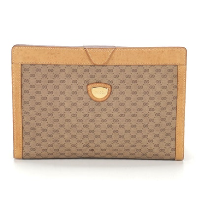 Gucci Cosmetics Bag in Supreme Micro GG Canvas and Leather