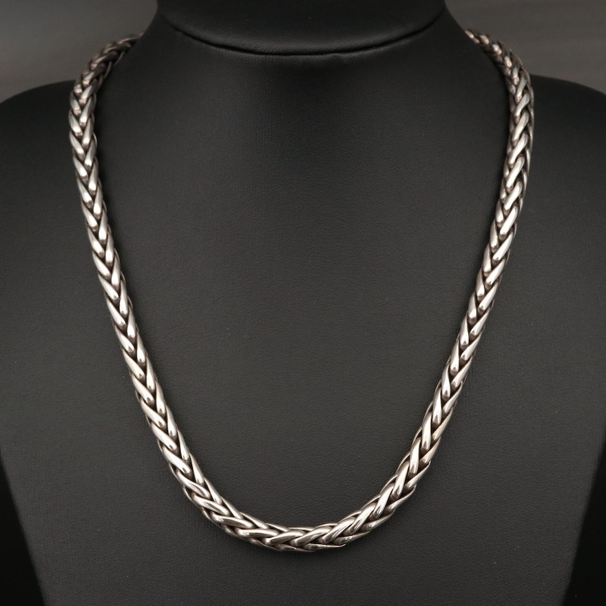 Zina Sterling Espiga Chain Necklace with 18K Accent