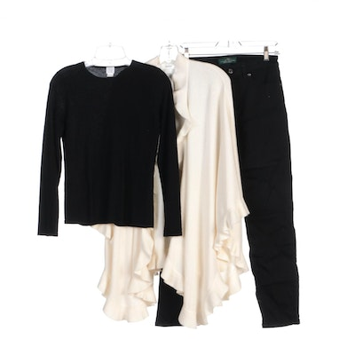 Lauren Ralph Lauren Jeans, Neiman Marcus and TSE Cashmere Sweater and Shawl