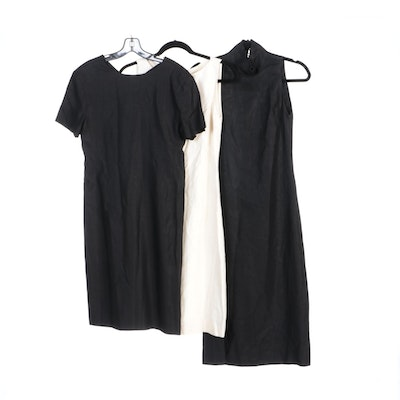 Ralph Lauren Black and Ivory Linen Dresses