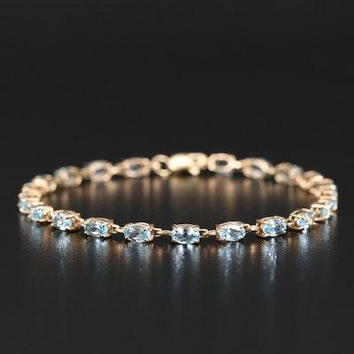 10K Topaz Bracelet