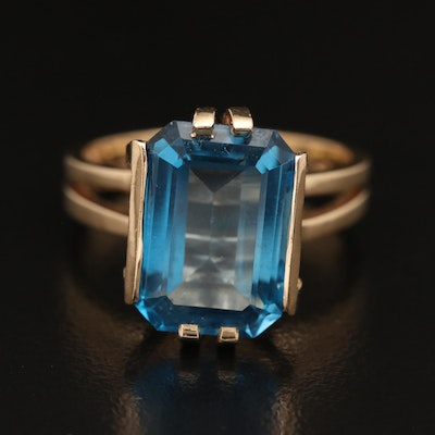 14K 8.39 CT Topaz Ring