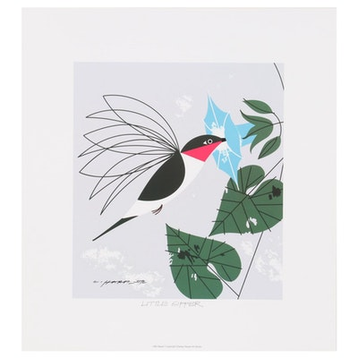 """Offset Lithograph after Charley Harper """"Little Sipper"""""""
