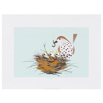 """Offset Lithograph after Charley Harper """"Chorus Line"""""""