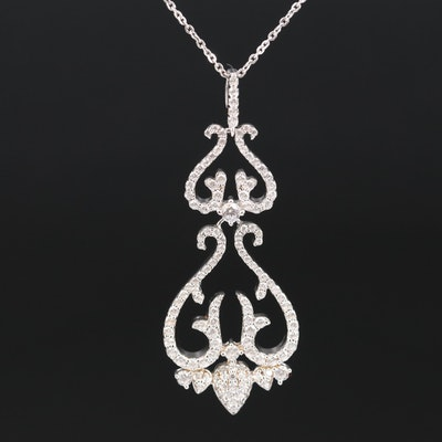 Sterling Silver Cubic Zirconia Necklace
